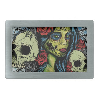 Day of the Undead Belt Buckle