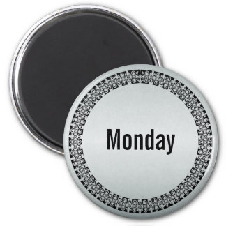 Day of the Week Monday 2 Inch Round Magnet
