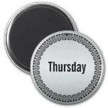 Day of the Week Thursday Fridge Magnets