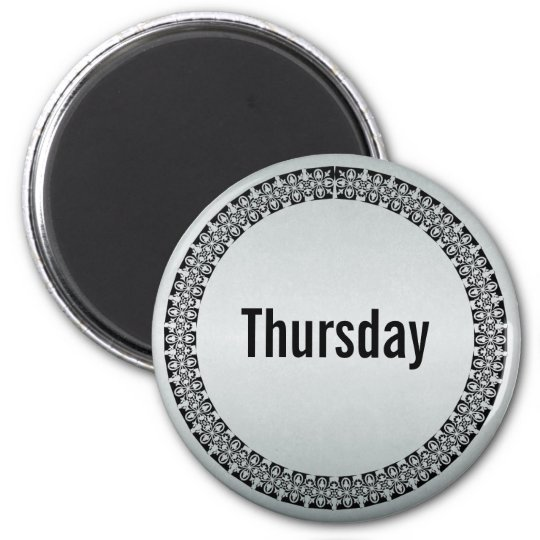 Day of the Week Thursday Magnet