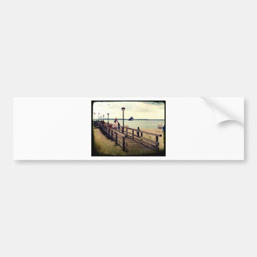 Day on the beach bumper stickers