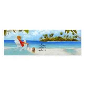 'Day On The Beach' Profile card Mini Business Card