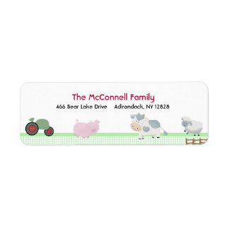 DAY ON THE FARM PRINTABLE ADDRESS LABELS