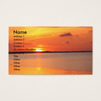 Day Slips into Night Business Card