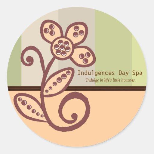Day spa business sticker zazzle for Stickers salon