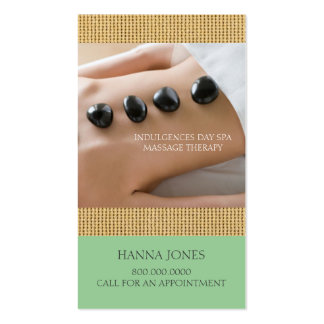 Day Spa | Massage Therapy Business Card
