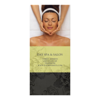 Day Spa Massage Therapy Price List {Olive} Custom Rack Cards