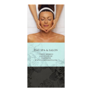 Day Spa Massage Therapy Price List {Teal Blue} Custom Rack Card