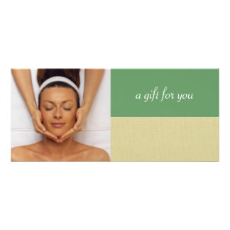 Day Spa or Massage Therapist Gift Certificates Custom Rack Card