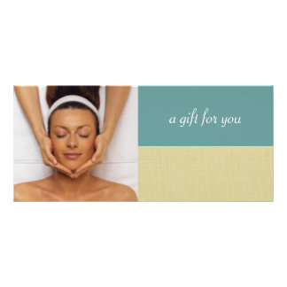 Day Spa or Massage Therapist Gift Certificates Customized Rack Card