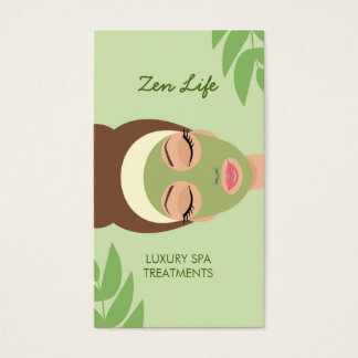 Day Spa Treatments Business Card