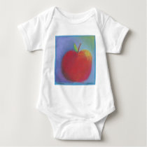Day Thirty five - Red Pastel Baby Bodysuit