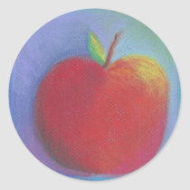 Day Thirty five - Red Pastel Classic Round Sticker