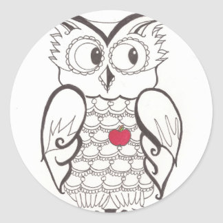 Day Thirty seven - hoo - Who? Classic Round Sticker