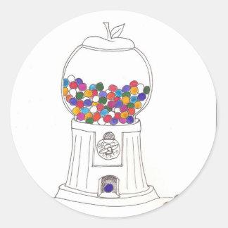Day Thirty two - Gum Ball Machine Classic Round Sticker
