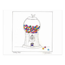 Day Thirty two - Gum Ball Machine Postcard