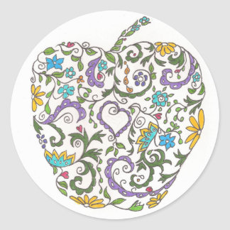 Day Three - Sweet Doodle Classic Round Sticker