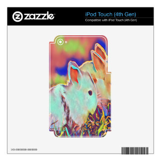 Day Time Dwarf Bunnies Decal For iPod Touch 4G