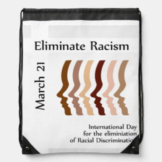 Day to celebrate elimination of racism drawstring backpack