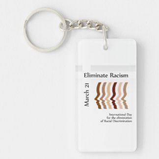 Day to celebrate elimination of racism keychain