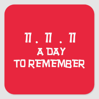 Day To Remember Remembrance Day Stickers