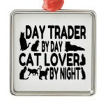 Day Trader Cat Lover Christmas Tree Ornaments