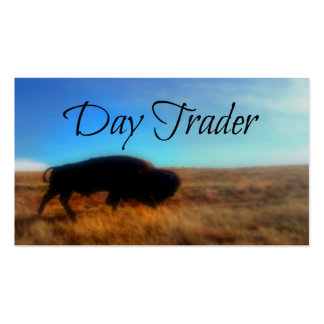 Day Trader Scenic Buffalo Background Double-Sided Standard Business Cards (Pack Of 100)