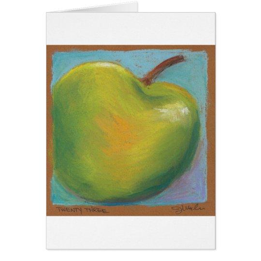 Day Twenty Three - Green Pastel Card