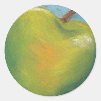 Day Twenty Three - Green Pastel Classic Round Sticker