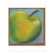 Day Twenty Three - Green Pastel Postcard