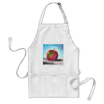 Day Two - Watercolor Apple Adult Apron