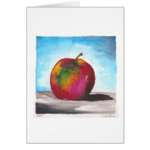 Day Two - Watercolor Apple Card