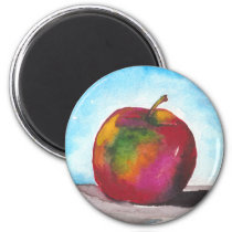 Day Two - Watercolor Apple Magnet