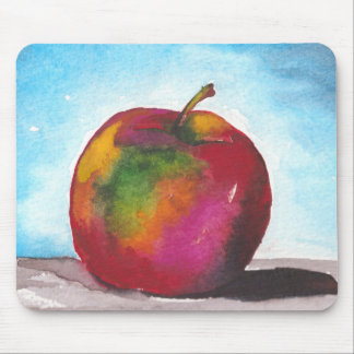 Day Two - Watercolor Apple Mouse Pad