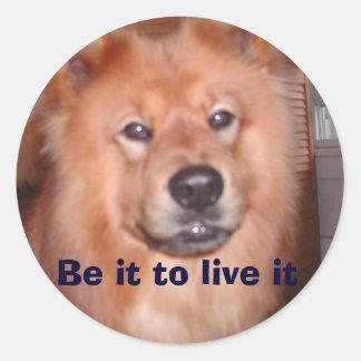 Day w Negrito 014, Be it to live it Classic Round Sticker