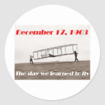 Day We Learned to Fly Classic Round Sticker