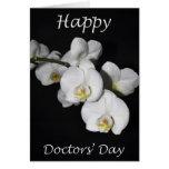Day White Orchid Flower de los doctores felices Felicitación