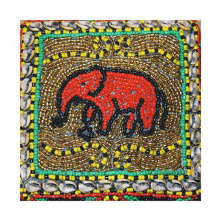Dayak Elephant Art Canvas Print