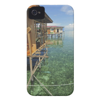 Dayak Lau que vive en los barcos y las casas en iPhone 4 Case-Mate Carcasa