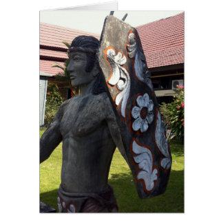 Dayak Statue Kalimantan Indonesia Airport Card