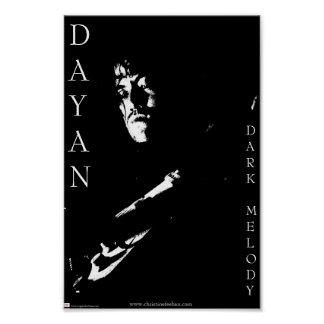 Dayan B and W Poster