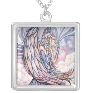 Daybreak Angel Sterling Pendant Necklace
