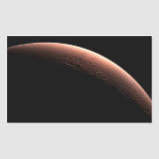 Daybreak at Gale Crater Rectangle Sticker