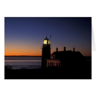 Daybreak at Quoddy Head Lighthouse, Maine Card