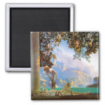 Daybreak - by Maxfield Parrish 2 Inch Square Magnet