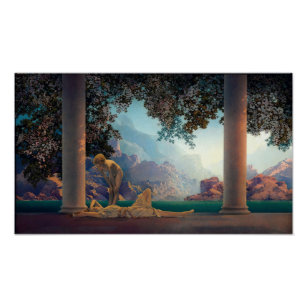 Art Print of Vintage Art Aucassin Seeks for Nicolette by Maxfield Parrish