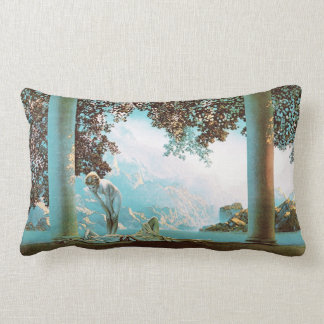 Daybreak, by Maxfield Parrish Lumbar Pillow