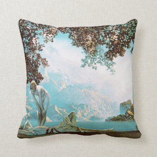 Daybreak, by Maxfield Parrish Pillows
