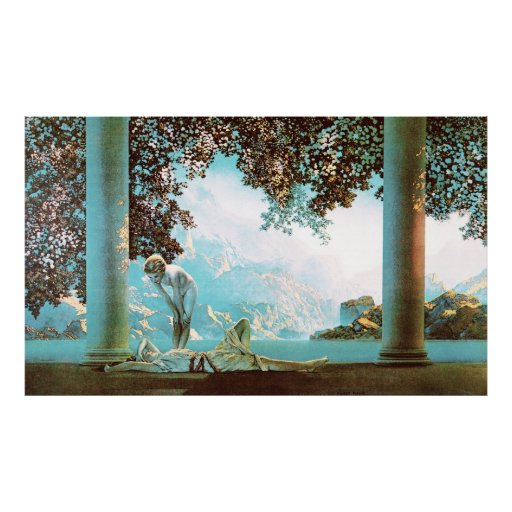 Daybreak, by Maxfield Parrish Poster