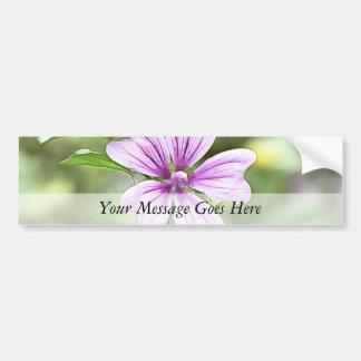 Daybreak - Mallow Flower Bumper Sticker